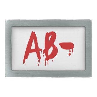 Blood Group AB- Negative #Horror Hospital Belt Buckles