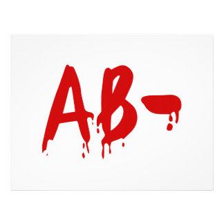 Blood Group AB- Negative #Horror Hospital Flyer