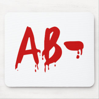 Blood Group AB- Negative #Horror Hospital Mouse Pad