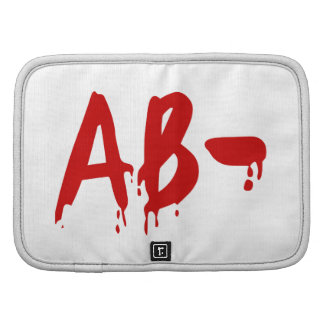 Blood Group AB- Negative #Horror Hospital Folio Planners