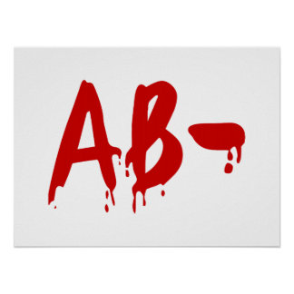 Blood Group AB- Negative #Horror Hospital Poster
