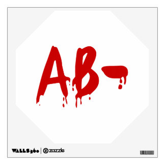 Blood Group AB- Negative #Horror Hospital Wall Decal