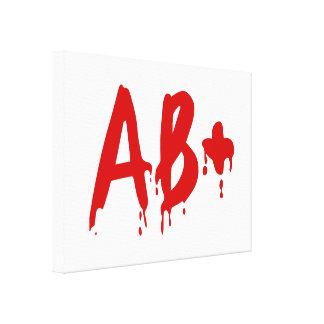 Blood Group AB+ Positive #Horror Hospital Canvas Print