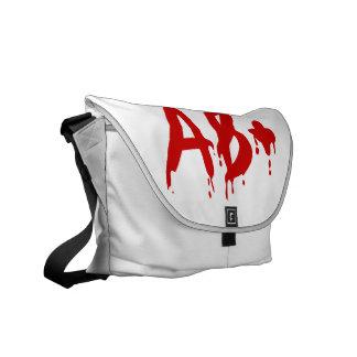 Blood Group AB+ Positive #Horror Hospital Messenger Bag