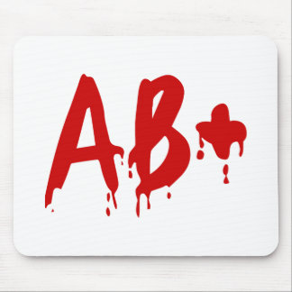 Blood Group AB+ Positive #Horror Hospital Mouse Pad