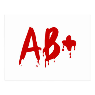 Blood Group AB+ Positive #Horror Hospital Postcard