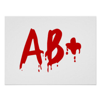 Blood Group AB+ Positive #Horror Hospital Print