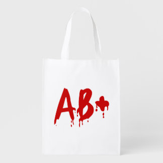 Blood Group AB+ Positive #Horror Hospital Reusable Grocery Bag