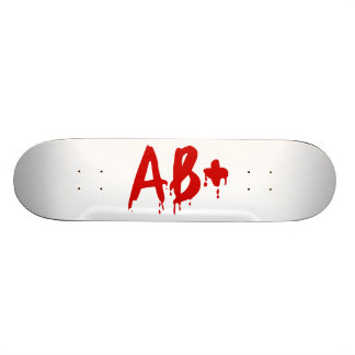 Blood Group AB+ Positive #Horror Hospital Skateboard Deck