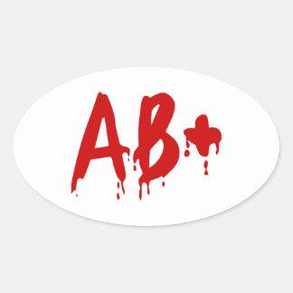 Blood Group AB+ Positive Horror Hospital Sticker