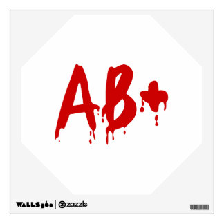 Blood Group AB+ Positive #Horror Hospital Wall Decal