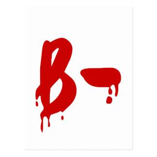 Blood Group B- Negative #Horror Hospital Postcard