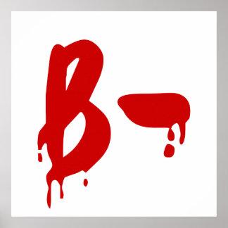 Blood Group B- Negative #Horror Hospital Poster