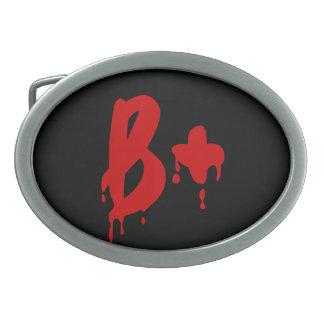 Blood Group B+ Positive #Horror Hospital Belt Buckles