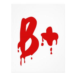 Blood Group B+ Positive #Horror Hospital Flyer
