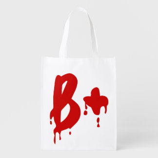 Blood Group B+ Positive #Horror Hospital Grocery Bag