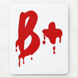 Blood Group B+ Positive #Horror Hospital Mouse Pad