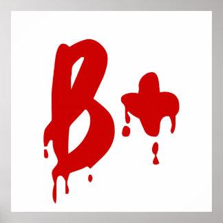Blood Group B+ Positive #Horror Hospital Poster