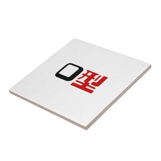 Blood Group O Japanese Kanji Tile