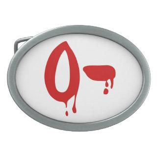 Blood Group O- Negative #Horror Hospital Oval Belt Buckles