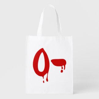 Blood Group O- Negative #Horror Hospital Grocery Bag