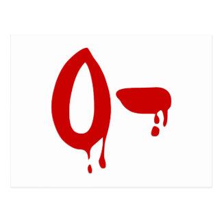 Blood Group O- Negative #Horror Hospital Postcard