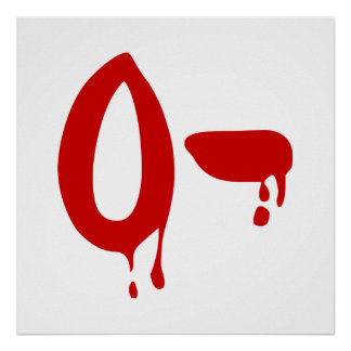 Blood Group O- Negative #Horror Hospital Posters