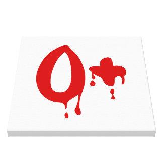 Blood Group O+ Positive #Horror Hospital Canvas Print