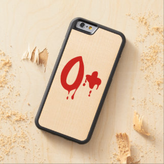 Blood Group O+ Positive #Horror Hospital Carved Maple iPhone 6 Bumper Case