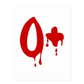 Blood Group O+ Positive #Horror Hospital Postcard