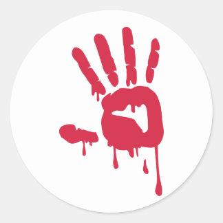 Blood - Hand Classic Round Sticker