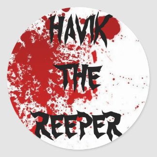 Blood, HAVIK THE REEPER Classic Round Sticker