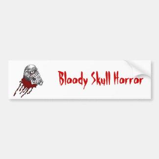 Blood Horror Skull Car Bumper Sticker