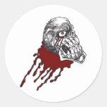 Blood Horror Skull Classic Round Sticker
