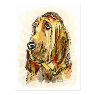 Blood Hound Dogs Postcard