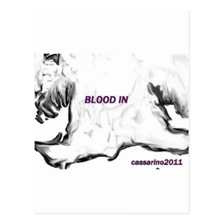 blood in postcard