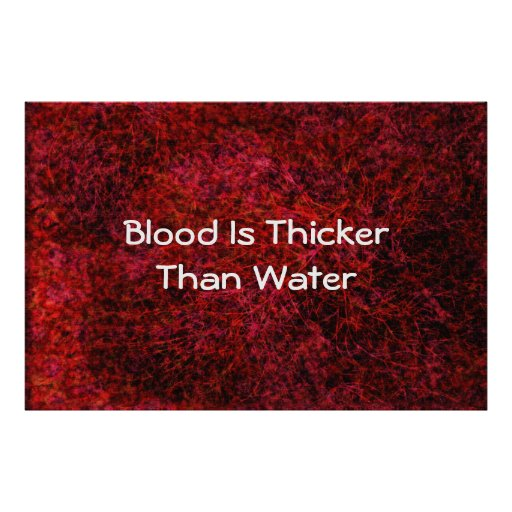 blood is thicker then water essay Blood is thicker than water essays essay heading: blood is thicker than water essay specific if he didn't let his pride get to him then doodle wouldn't.