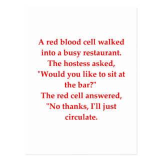 blood joke postcard