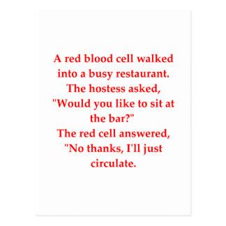 blood joke postcard