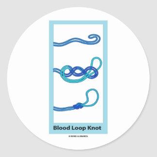Blood Loop Knot Knotology Stickers