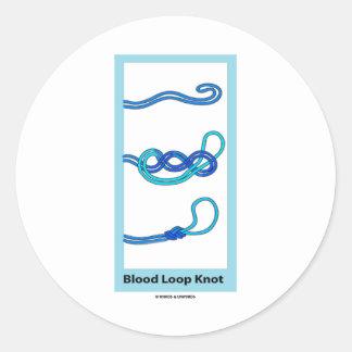 Blood Loop Knot Knotology Round Sticker