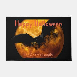 Blood Moon and Black Bat, Spooky Halloween Doormat