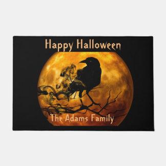 Blood Moon and Black Raven, Spooky Halloween Doormat