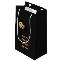 Blood Moon and Night Owl Silhouette Small Gift Bag