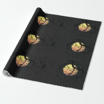 Blood Moon and Night Owl Silhouette Wrapping Paper