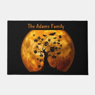 Blood Moon and Spooky Black Tree Halloween Doormat