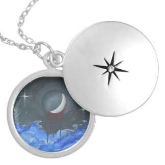 Blood moon and stars necklace