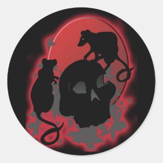 Blood moon classic round sticker