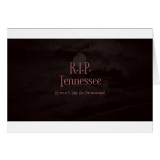 Blood Moon Logo RIP Tennessee Greeting Cards