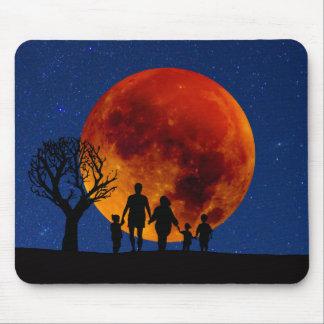 Blood Moon Lunar Eclipse Mouse Pad
